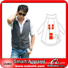 2014 slim fit single-breasted men suit vest with electric heating system heated clothing warm OUBOHK