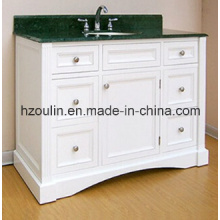 White Modern MDF Bathroom Vanity (BA-1140)