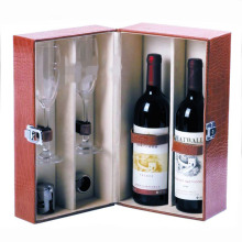 Embossing Hot Foil Paper Red Wine Packaging Gift Box