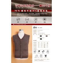 Yak lã / Cashmere Cardigan V Neck manga comprida camisola / vestuário / vestuário / malhas