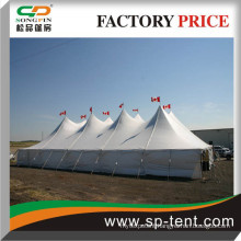Cheap steel Tensile Poles Tents for sale 60ftx100ft enclosed white plain sidewalls