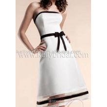 Calças de vestido por atacado Vestido de noiva de joelho Vestido fabricante Preço de fábrica Vestido de vestimenta Roupa feminina Venda quente 2015