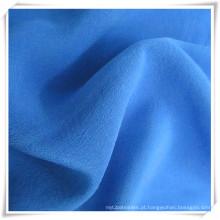 Tecidos de seda crepom azul tingidos de pavão