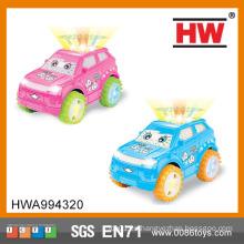 La alta calidad embroma los juguetes plásticos universales del mini coche con la luz y la música