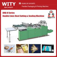 DRQ-D800 Double lines heat cutting side sealing bag making machine