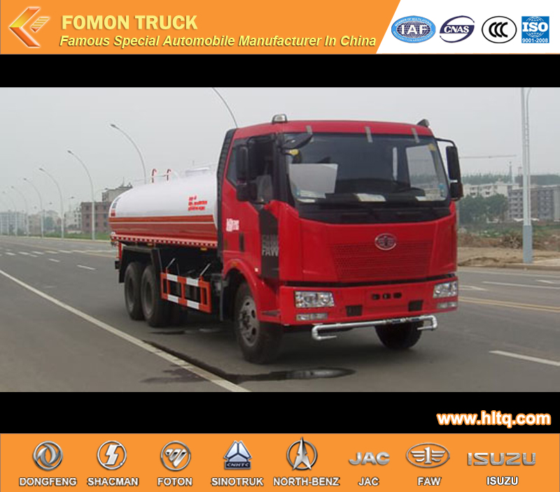 Faw 6x4 20000L Spraying Water Tank Truck