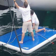 Drop Stitch Inflatable Dock flotante Pontoon Mat para la venta
