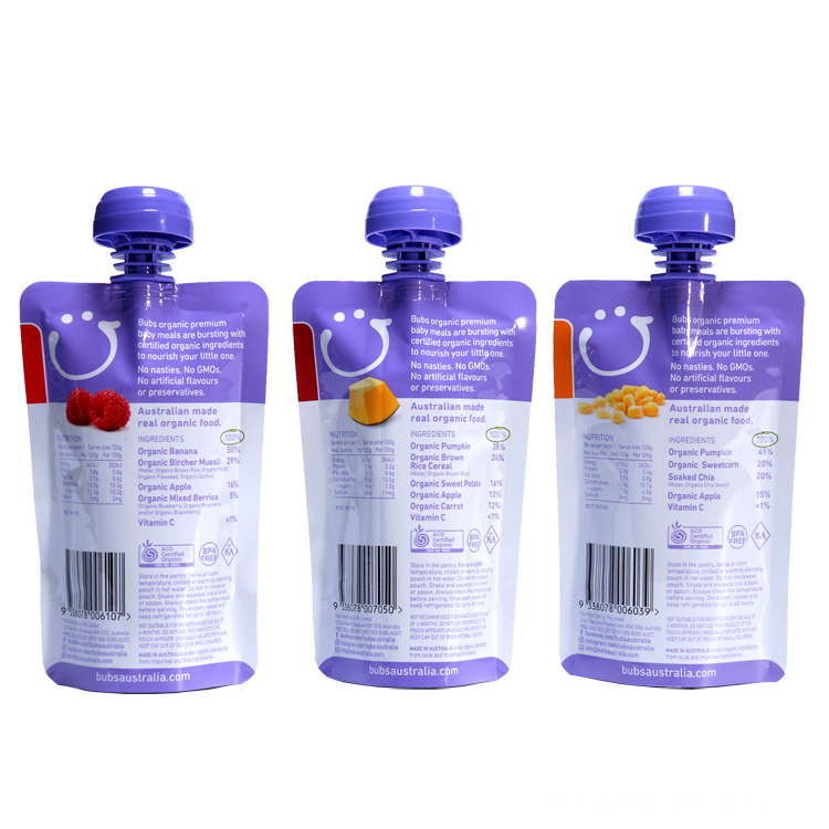 Baby Food Pouch Milk Packaging Plastic Bag