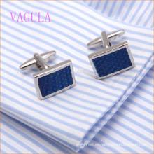 VAGULA moda rodio plateado cobre pintura azul redondo gemelos