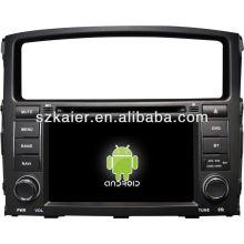 4.2.2 OS système Android lecteur dvd de voiture pour Mitsubishi Pajero avec GPS, Bluetooth, 3G, iPod, jeux, double zone, contrôle du volant
