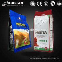Plastik flache Unterseite quaddichtung Verpackungsbeutel für Nahrungsmittelverpacken