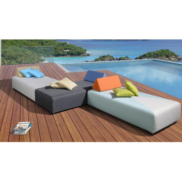 Modernes Design Single Outdoor Freizeit Wicker Sunbed
