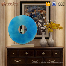 Luxury home decor resin transparent blue sculpture for wholesale