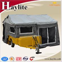 roulotte galvanisée avec tente en toile