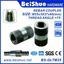 M25-L60mm Building Construction Rebar Coupler with Straight Screw Sleeve