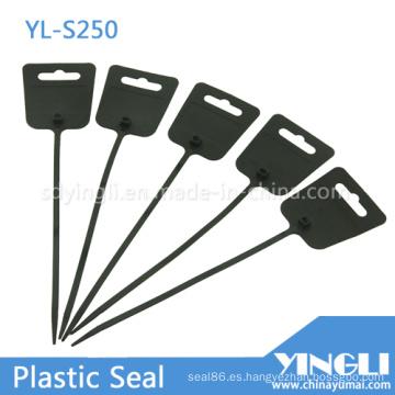 Sellos plásticos de alta calidad con etiqueta grande y ajustada