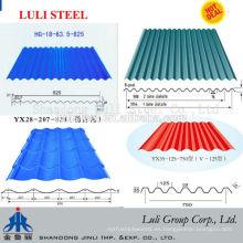 Hojas de techo de acero corrugado recubiertas de color / Tejas