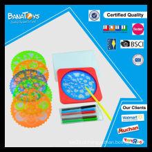Melhor venda pintura conjunto com água cor caneta e modelo miúdos brinquedos educativos