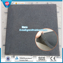 Gold Manufacturer Playground Tile Gym Rubber Tile Outdoor Rubber Tiles Anti Slip Rubber Tile