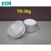 2 oz de plástico al por mayor de acrílico envase de cosméticos frasco crema de contenedores