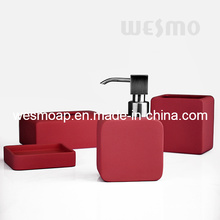 Red Rubber Oil Coated Porcelain Bathroom Set (WBC0809C)