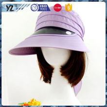 Fábrica de venda direta de plástico de preço baixo bonés viseira sol e chapéu de preço por atacado