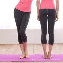 Pantalones deportivos suaves de buena sensación Pantalones largos Pantalones de yoga sin costura