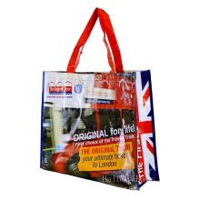 Sac en tissu PP personnalisé, sac non tissé laminé, sacs à provisions
