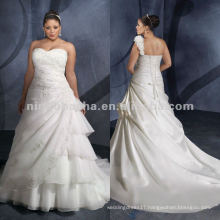 NY-2419 Organza with Embroidery wedding dress