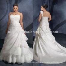 NY-2419 Organza com vestido de casamento bordado