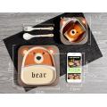 Eco-friendly 5 peças de bambu Kids Dinner Set