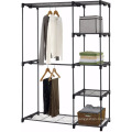 Double Rod Closet with Silver color clothes storage