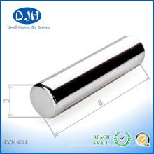 N42 poderoso D3X8mm barra permanente forma neo imán para la industria