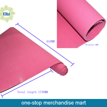 Printed yoga mat with carry strap