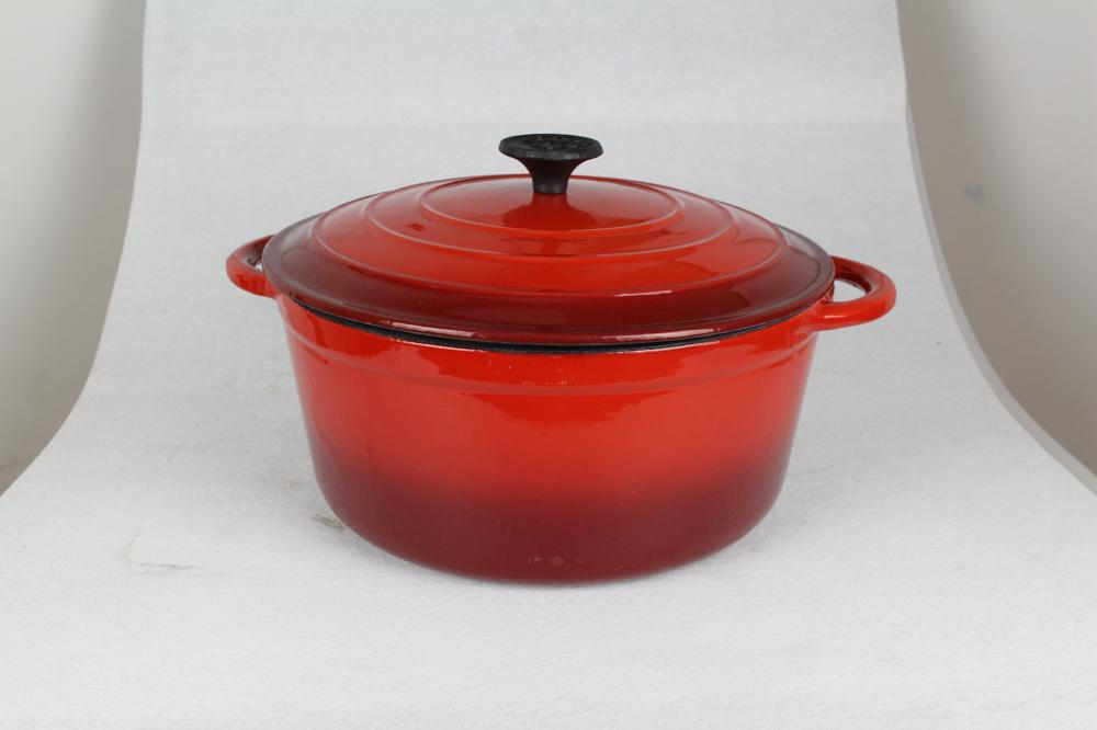 red cast iron enamel casseroles