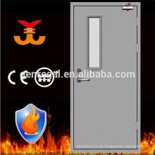 Puerta de acero de visión de vidrio con resistencia al fuego