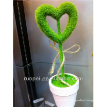 hot sale new design artificial topiary christmas tree heart shape