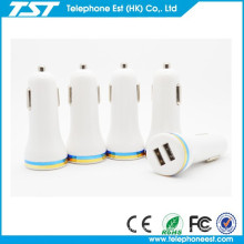 High Quality Output DC 5V 2.1A Universal Portable Dual USB Car Charger Wholesale