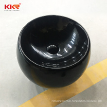 Commercial solid surface artificial stone wall hung bathroom sink hand wash basin for hotel
