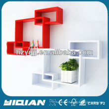 Modern High Gloss Home Decor Shelf Wall Decorative Cube Shelf Bathroom Shelf