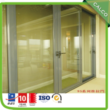 Porte en verre coulissante profilé en aluminium