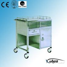 Mobilier d'hôpital, chariot d'anesthésie médicale d'hôpital en acier inoxydable (Q-28)