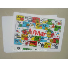 a to Z Alphabet PP Plastic Placemat for Kids