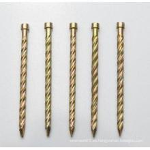 Venta caliente pulido uñas comunes / clavos para techos / cabeza plana uñas
