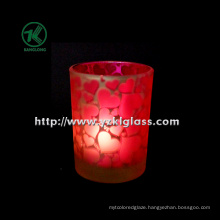 Color Double Wall Glass Candle Votive by SGS (DIA8*10.5)