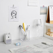Variable Wholesale Support Custom Glossy Elegant Square Plastic Clear Acrylic Desk Pen Holder