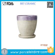 Original Dusty Purple Keramik Pflanze Garten Blumentopf