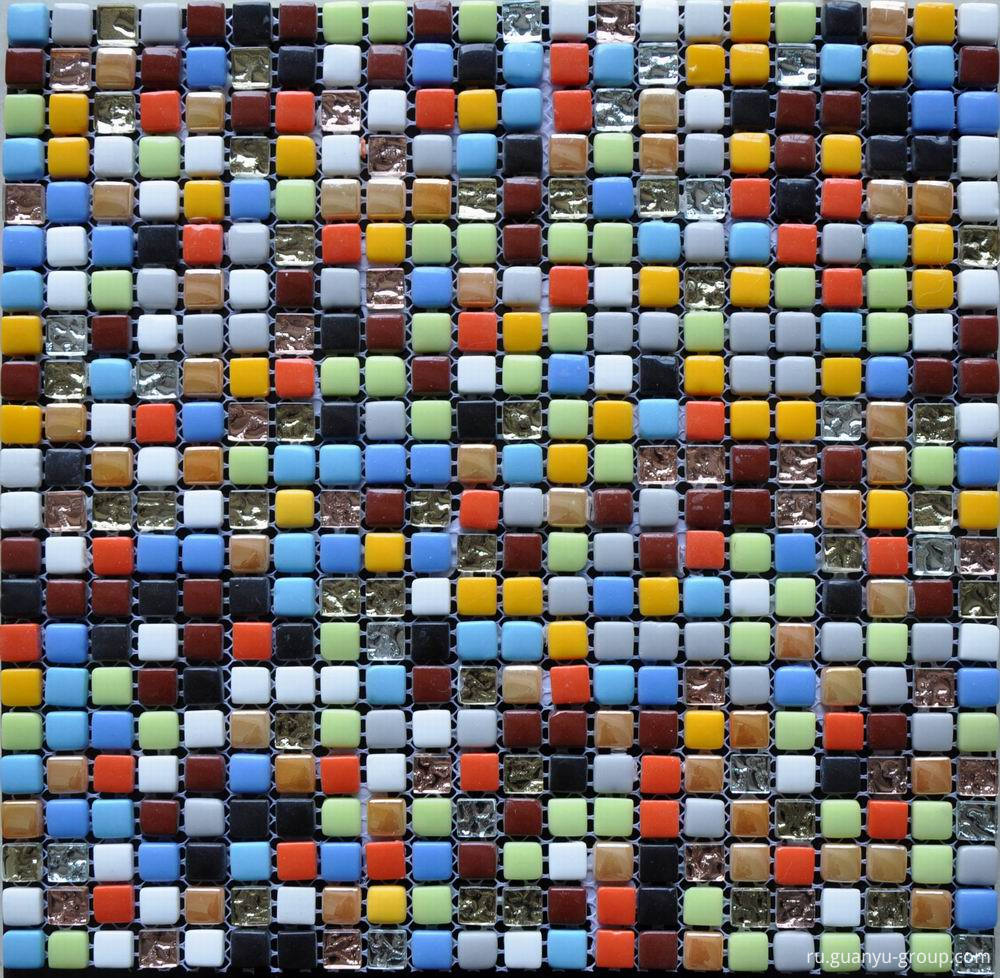 Ceramic Glass Mixed Mosaic Tile