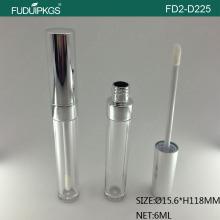 化粧品の空ラウンド 6 ML シルバー リップグロス コンテナーをカスタマイズします。