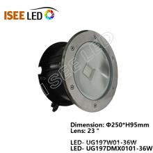 RGB DMX COB Led lámpara de luz subterránea